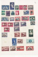 SOUTH AFRICA 1960's ALBUM PAGE OF 35 STAMPS