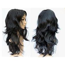 Perruque/Cheveux postiches Noir Long Crêpelé Pour les femmes, le Cosplay WT