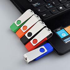 5PCS 8GB Rotating USB Flash Drive U Disk Storage USB 2.0 Pendrive Thumb 5 Colors