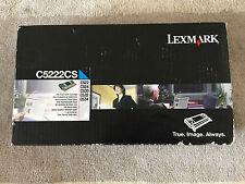 GENUINE Lexmark C522 c524 C530 C532 C534 Cyan Toner C5222CS-FREE UK POSTAGE.