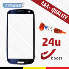 AAA+ FRONT GLAS/VERRE AVANT BLUE + REPAIR GLUE FOR SAMSUNG GALAXY S3 I9300