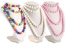 50s Retro Pop Beads Variety Fun Pack - 1 Bag Each Rainbow, Pink, & White Beads