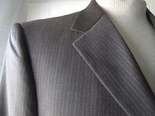Mens Blazer Sport Coat Kenneth Cole Reaction 44R Wool 3 Button Taupe Pinstripe