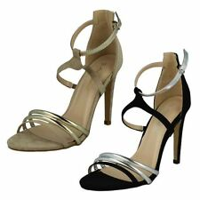 Strappy, Ankle Straps Synthetic Upper Slim Heels for Women