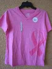 GUY HARVEY LADIES SMALL PINK T-SHIRT FIGHTING FOR THE CURE (NWT) SHORT SLEEVE
