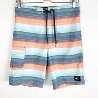 O'Neill Mens Boardshorts Swim Trunks Surf Shorts Blue Orange Size 28