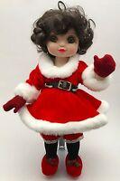 Marie Osmond Disney Adora Minnie Holiday Xmas Belle Vinyl Doll Red Santa Dress