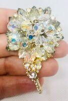Large Juliana D&E Crystal And Rhinestone Cha Cha Brooch Vintage Jewelry