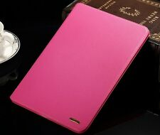 """Genuine Real Leather Smart Case Cover for Air1 2017 iPad 9.7"""" A1822 Isy-01 Grey"""