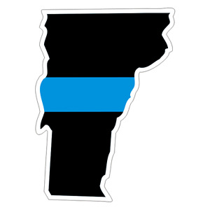 Vermont VT State Thin Blue Line Police Sticker / Decal #222 Made in U.S.A.