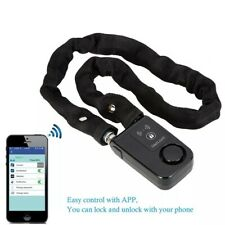Motorcycle Scooter Bicycle Chain Lock Alarm App Control Keyless Bluetooth LOUD