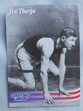 1996 Starting Lineup Jim Thorpe Olympic Card