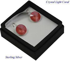 *STERLING SILVER* - RIVOLI - Light Coral Earrings made with SWAROVSKI Crystals