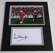 Steve McManaman Signed Autograph 10x8 photo display Liverpool Football AFTAL COA