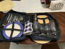 Picnic at Ascot 4 Person Picnic Backpack Cooler Insulated Wine Holder Green New