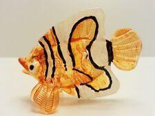 ฺFish2 Figurine Art Animal Hand Blown Glass Miniature Collect Home Decor Gifts