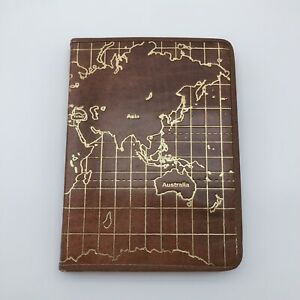 Handmade Notebook Leather Journal With A Map Design