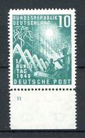Bund MiNr. 111 postfrisch MNH mit Plattennummer 11, gefaltet (N148