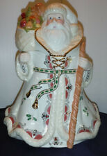 Lenox Porcelain Christmas Holiday Woodland Santa Cookie Jar 2004