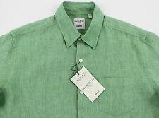 Men's MURANO Fresh Green Linen Shirt L Large NEW NWT HOT!!