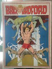BRICK BRADFORD tavole domenicali a colori collana gertie daily 50 comic art 1978