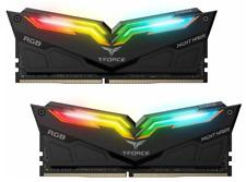NEW 2X8GB TEAM T-FORCE NIGHT HAWK RGB 3600MHZ DDR4 GAMING RAM COMPUTER DESKTOP