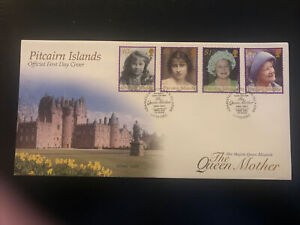 Pitcairn Islands 2002, FDC, Queen Mother Commemoration, Excellent Condition