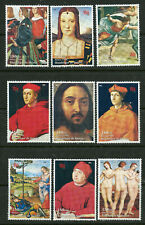 Paintings Raphael Art mnh set of 9 stamps 1998 Guinea Portraits Nudes