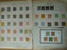 INDIAN STATES JAMMU KASHMIR collection early classic stamps on 2x old album page