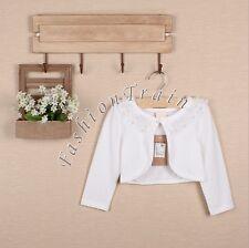 Flower Girl Kid Lace Bridesmaid Wedding Formal Party Bolero Shrug Short Cardigan