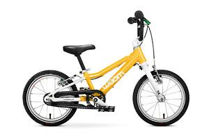 "Woom 2 Kids Bike Sunny Yellow New NIB Kickstand Chainguard 14"""