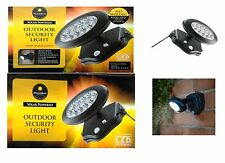 2 x 10 LED SOLAR PIR MOTION SENSOR SECURITY FLOODLIGHT LAMP GARDEN OUTDOOR LIGHT