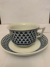 ADAMS BRENTWOOD - Blue Shamrock - 2 coffee cups and saucers