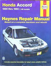 HAYNES HONDA ACCORD 1990-93 Repair Manual - BOOK