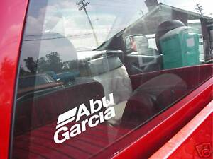 ABU GARCIA fish window decal reel bass boat windshield