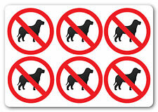 NO PETS health and safety signs shop pub office 6No 50x50mm