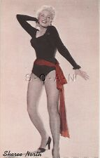 Pin Up- Semi Nude- Color- Vendor Arcade / Exhibit Placard- Sheree North- 30s-50s