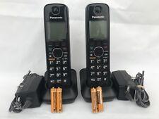 LOT OF 2 PANASONIC KX-TGA660B DECT 6.0 PLUS CORDLESS HANDSET KX-TG6641 KX-TG6643