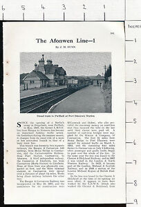 ZAS53* The Afonwen line Bangor Dinas 12 page 1958 magazine article