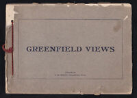1900s Antique Book of Greenfield Massachusetts Street Views Scenes Photographs