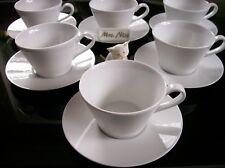 Rosenthal Culture Weiss 6 x Tee/-Cappuccinotassen mit Untertassen **NEU 1.Wahl**