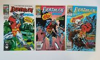DEATHLOK SPECIAL #1, 3 & 4 Marvel 1991 Series. Origin Michael Collins DL. VF+