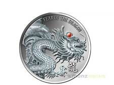 20 $ Dollar Red Fire Dragon Rubin Drache Fiji 2 oz Unzen Silber Silver 2012