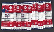 2012 MLB WORLD SERIES NEW YORK YANKEES UNUSED BASEBALL TICKETS (100) - GAME #3