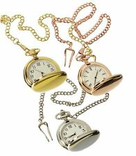 Silver Gold Rose 1920's Classic Peaky Blinders Pocket Watch Chain Vintage Retro