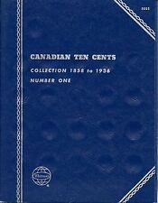 "Whitman Obsolete ""Canadian Ten Cents"" 1858-1936 #1  Coin Folder 9065 New"