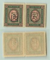 Armenia 1919 SC 47 mint black Type A horizontal  pair . e9405