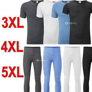 Mens Short Sleeve Thermal T Shirt Top & Long John SET Sizes 3XL 4XL 5XL