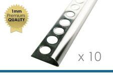 10 x 2,5m profili per pavimenti 12,5mm tondo profilo acciaio inox lucido laurea