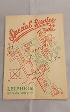 Military sub post flyer Leipheim Germany RARE SPECIAL SERVICE CLUB